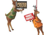 A Hunting We Will Go / hunting theme ornaments and decor  from The Country Porch