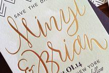 FOILING FUN {wedding stationery} / Foiled wedding stationery inspiration