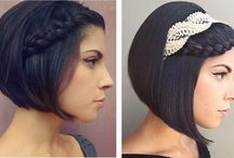 прически на коротких волосах