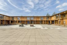 Classroom block for 600 students at Woolwich Polytechnic School by TGEscapes