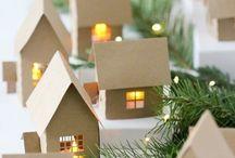 maisons de noel en carton