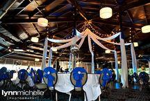 royal blue and fun décor / Royal blue makes this fun wedding pop at the Sheraton in Arlington.