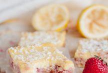coconut and strawberry lemon bar