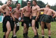 Scottish men in kilts