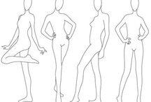 Fashion Sketches Poses
