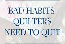 Bad habits to quit.
