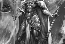 Fantasykunst Krieger