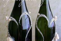 esküvői pezsgős üvegek