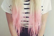 Pink pastel hair