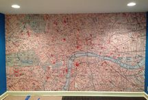 Ancestral wall maps / walls featuring maps of the places our ancestors once called home!
