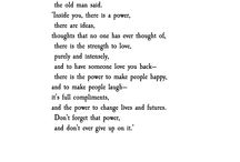 Poets/thoughts