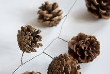 Pine cone tree decoration for rustic Christmas