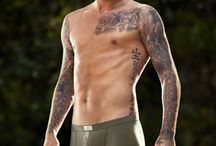 David Beckham / Hot with suit or shirtless in his underwear. Pics of his haircut style hairstyle then and now