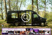 (NJ) SHUTTLE BUS (13 Passenger) / This Van Terra Bus can accommodate 13 passengers very comfortably. It is equipped with a large Screen TV , stereo with DVD, CD Player, I- Pod connection and air conditioning and heat. There are 5 Emergency Egress exits and a 13,500 BTU rear Air conditioning unit.   #partybus #njpartybus   TRULIMO.COM Tel: 908.523.1700
