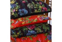 Textiles / Cotton Cushion covers kantha stitch