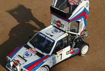 Rally car model in 1/24 scale