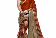 Bridal Designer Saree / Buy beautiful & designer sarees as party wear sarees, Bollywood sarees, bridal wedding sarees, printed, embroidered & silk sarees at TFM