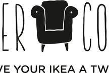 Give Your IKEA A Twist! / #IKEA Sofa Covers, IKEA Armchair Covers, IKEA Chair Covers, & IKEA Cushion Covers.  / by CoverCouch - Custom IKEA covers