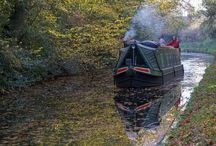 narrow canal boat