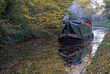 narrow canal boat