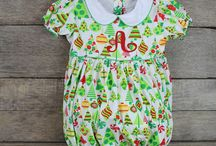 Merry Christmas! / Adorable smocked and applique holiday and Christmas clothing for children 3M- 6years.