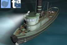 3D Scenes TAEVision - Fisheries / Commercial Fishing Industry. Boats. Equipment. Propulsion Engines. Caterpillar Marine Power Systems...