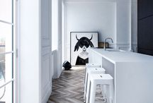 L house - wood floors