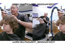 Photo Editing man / Some of my work with theme photo editing warping men instead of women. Hair cutting.