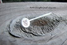 Hand Stamped Bobby Pins