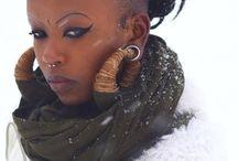 Snowy Ebony Woman