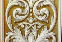классический лепной  орнамент