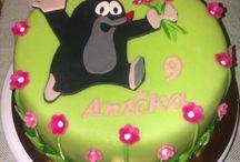 Moje dortíky / Domácí dorty potažené marcipánem a jiné pečení:-)