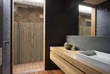 outdoor bathroom / by Lisa Matulis-Thomajan