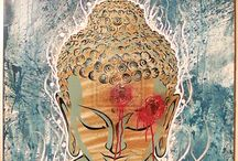 Buddhism - Art/Drawings//Enso/Prayer Flags/Watercolours / Everything (I think) that is not on my other boards.  Tashi delek _()_ / by Ruth (Farfallina)