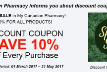 Sales and discounts / My Canadian Pharmacy is a pharmaceutical facility that runs its activity online. Every day we try to make our service better for you that is why we provide only high-quality products and special offers and discounts for them on regular basis. And today we want to inform you that we offer 10% discount to each client for each purchase. Now you can get the same products at lower price.