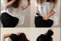 Long Hair Buns Messy