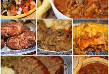 ground beef recipes / by Sally Prather