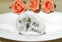 Ültetőkártya és köszönetajándék esküvőre - Wedding favor and place card