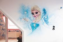 Meisjeskamer muurschildering