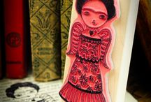 Inspired by Frida Kahlo / All about Frida Kahlo. Original works of Frida, fan art, souvenirs and so on.