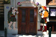 grek vintage signs