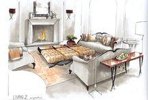 aquarell interiors