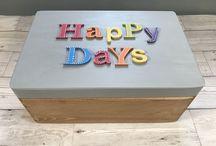 Large Happy Days Memory Box Gratitude Box