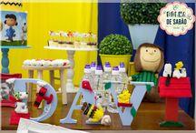 Decoração de festa Snoopy