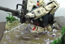 Gunpla Diorama Model / Collection of gunpla diorama ideas. Also other model kit diorama ideas and inspiration.