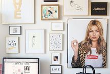 The Gallery Wall / Some ideas to help you get started on creating a gallery wall for your home!