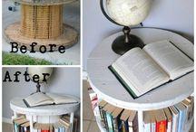 mobili con oggetti reciclati