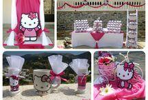 Βάπτιση Hello Kitty / Βάπτιση για κορίτσι Hello Kitty, κούπες για τους ενήλικες, σαπουνόφουσκες για τους μικρούς μας φίλους.