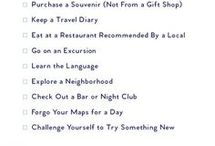 travel tips and bucket list