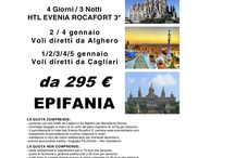 Partenze Epifania da Cagliari e Sardegna
